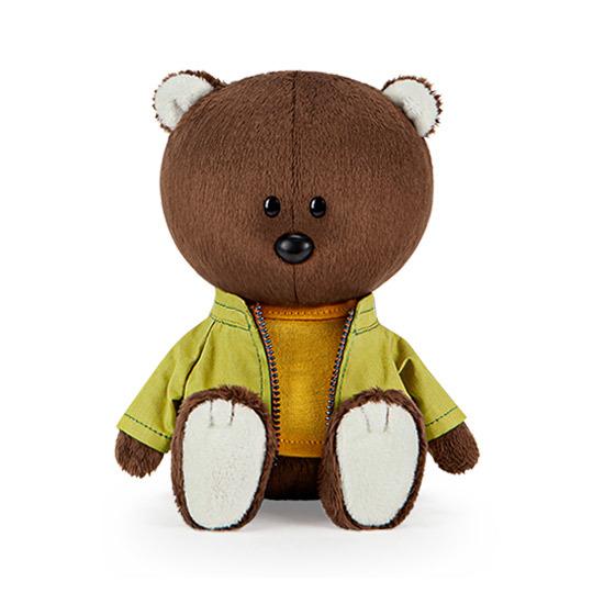 Медведь Федот в оранжевой майке и курточке (Лесята Budi Basa)