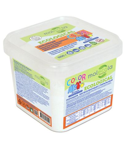 Стиральный порошок для стирки цветного белья КОНЦЕНТРАТ гипоаллерген. экологичный Molecola 1кг,70051