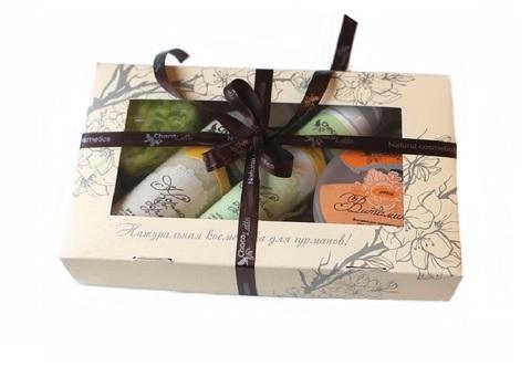 Набор подарочный №10 для лица Норма-Дерм (сыворотка Норма-Дерм, пенка для умывания Норма-Дерм, маска Витаминный Фреш, мыло фигурное) ТМ Chocolatte