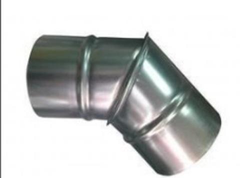 Отвод (угол) 45 градусов D 355 оцинкованная сталь