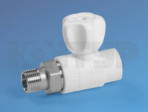 Кран радиаторный прямой PPR НР D25-3/4 - Контур