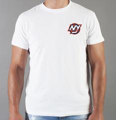 Футболка с принтом НХЛ Нью-Йорк Айлендерс (NHL New York Islanders) белая 007