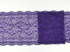Эластичное кружево, 21 см, ярко-фиолетовое, (Арт: EK-2145), м