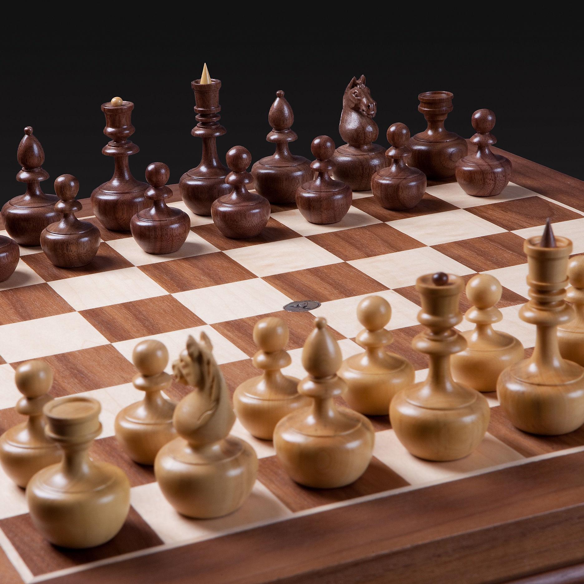 Шахматы Карпов-дизайн «Непобедимые» Орех-Самшит