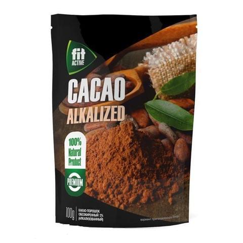 Какао обезжиренный FitActive 1%, 100гр