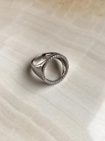 Кольцо Франка, серебряный цвет