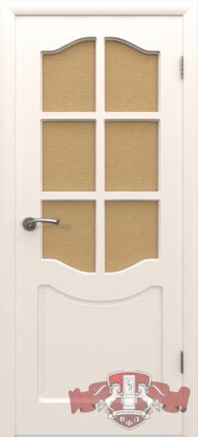 Дверь 2ДР0 (белая эмаль, остекленная шпонированная), фабрика Владимирская фабрика дверей