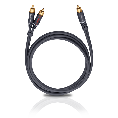 Oehlbach BOOOM! Y-adapter cable, anthracite 3.0m, кабель сабвуферный (#23703)