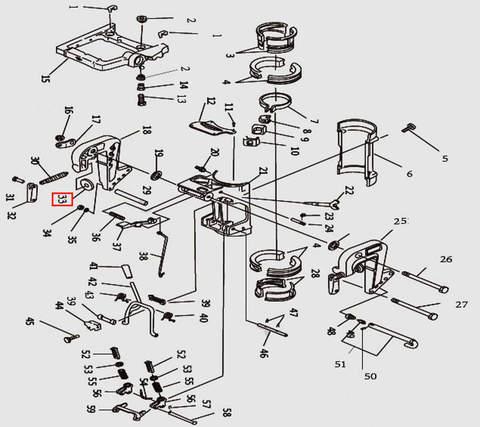 Тарелка зажима транца для лодочного мотора T9.8 Sea-PRO (11-33)
