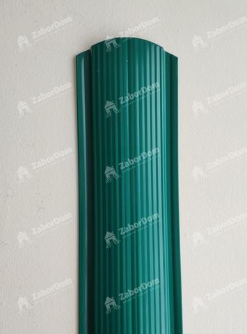 Евроштакетник металлический 110 мм RAL 6026 фигурный 0.5 мм