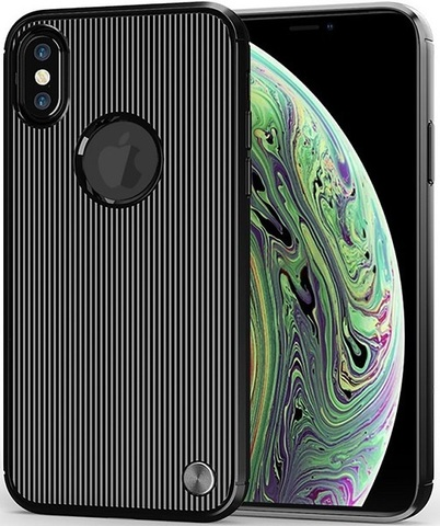 Чехол для iPhone X (XS) цвет Black (черный), серия Bevel от Caseport
