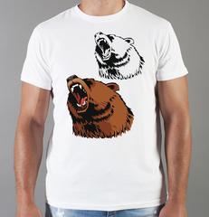 Футболка с принтом Медведь, Медвежонок (Bear) белая 005