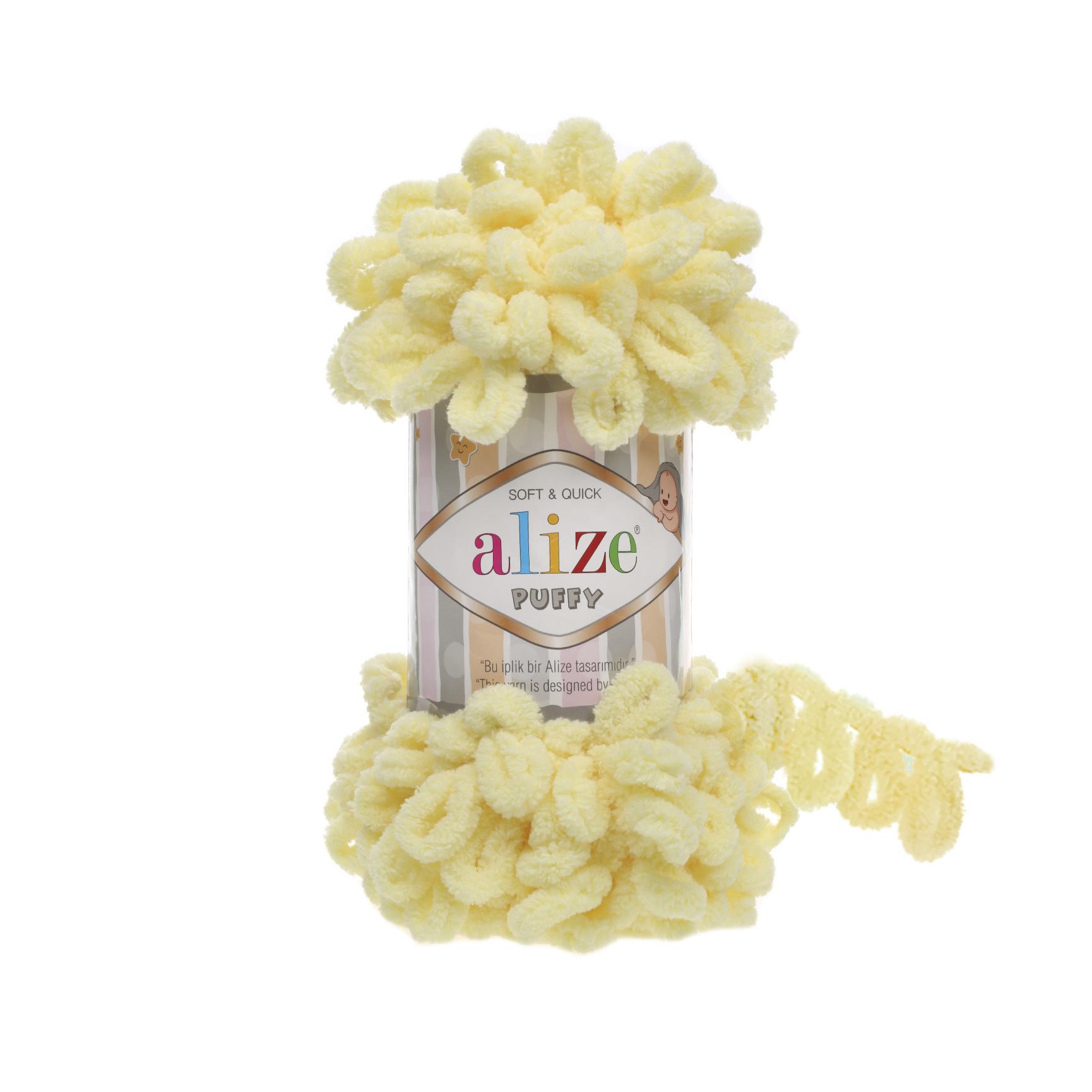 Пряжа Alize Puffy 13 лимон