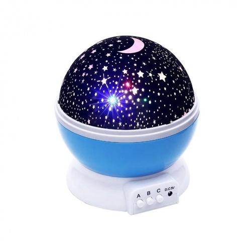 Ночник-проектор вращающийся Звездное небо Star Master (голубой)