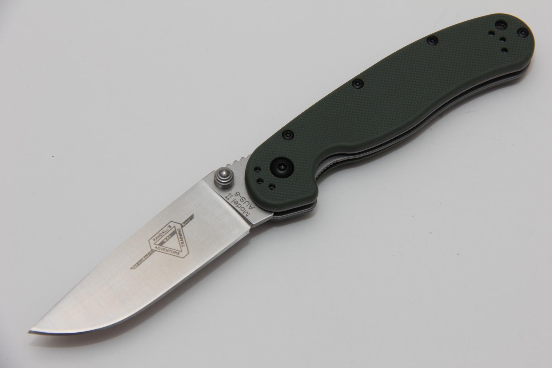 Нож Ontario Rat II folder ON8860OD зеленый