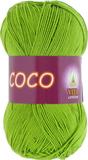 Пряжа Vita Coco 3861 ярко-зеленый