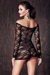 Кружевная черная сорочка Lynette