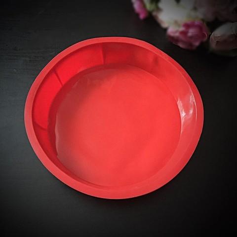 Силиконовая форма для выпечки Круглая для ровного торта диаметр 23см \ дно 21см)