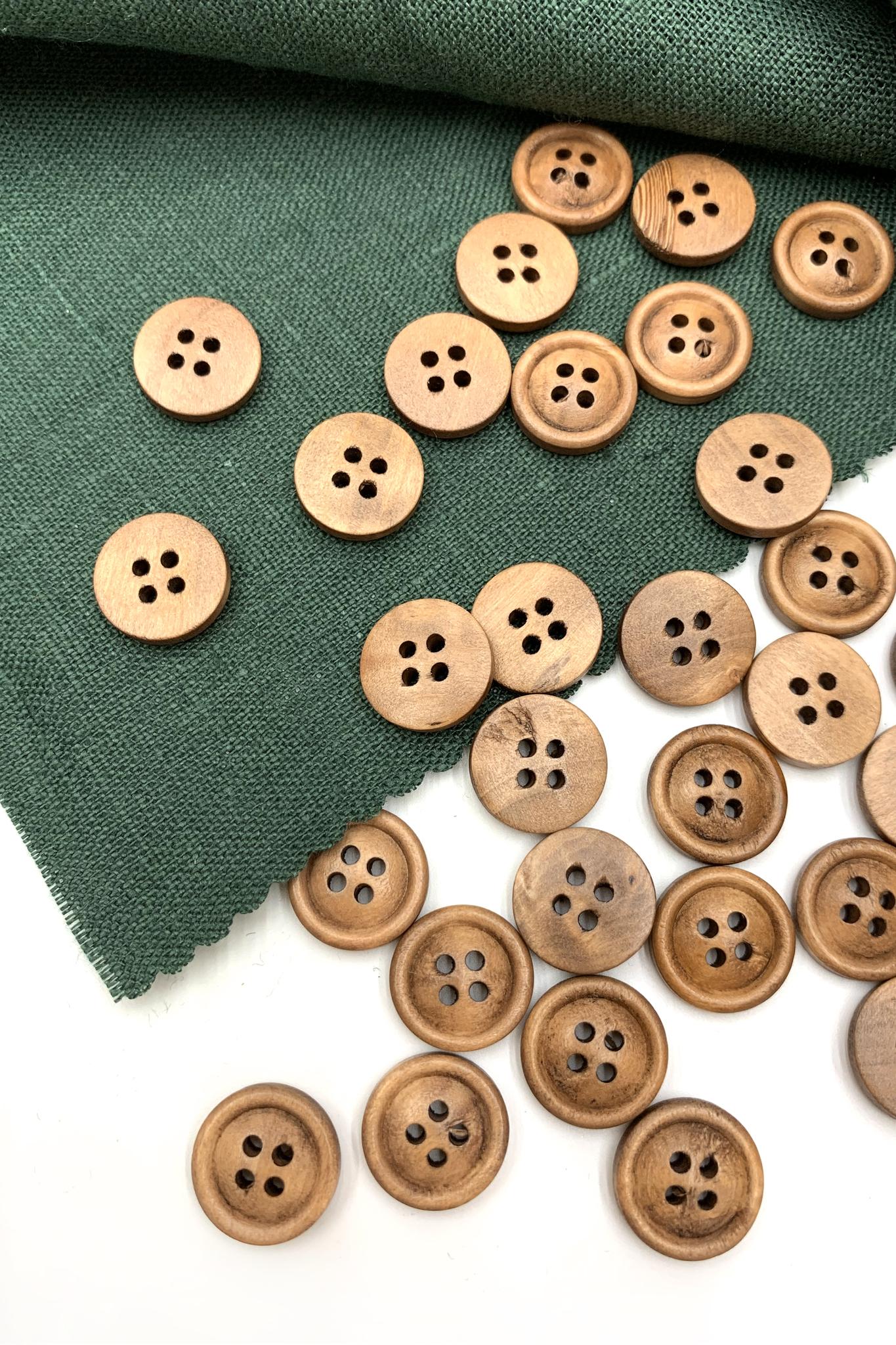 Пуговица деревянная2; 14 мм