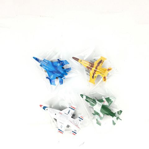 Самолет инерционный, металлический, 4 вида (в пакете)