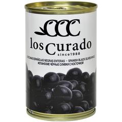 Los Curado  Оливки  черные с косточкой,  300г