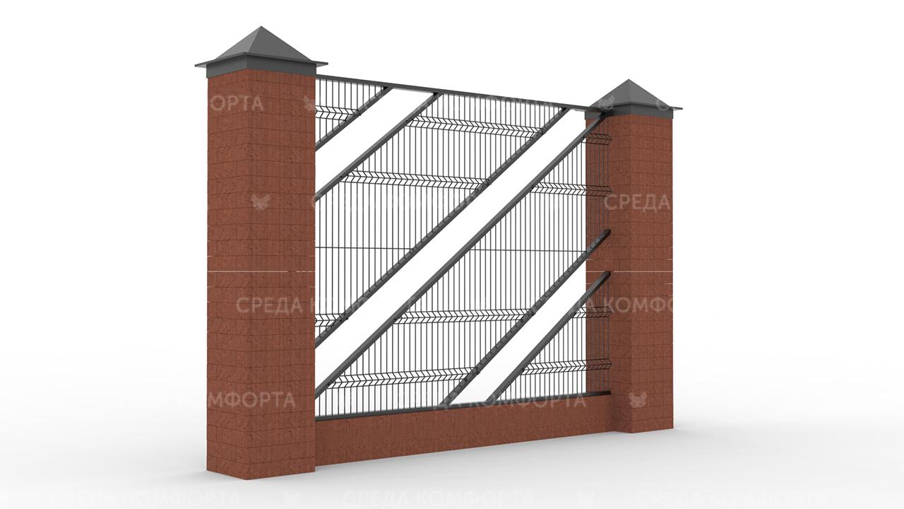 Забор 3Д ZBR0077
