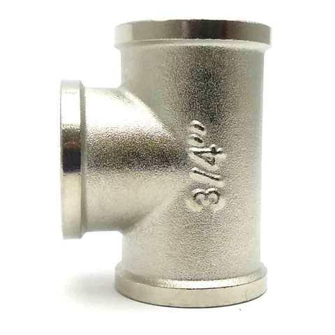 Тройник никелированный 3/4'' внутренний  SD Forte