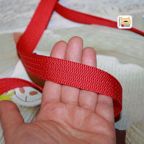 Ременная лента облегчёная 20мм (красная) ЛР20-КР (1 ярд)
