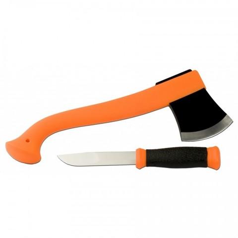 Туристический набор Morakniv Outdoor Kit MG, нож Mora 2000 + топор (оранжевый)