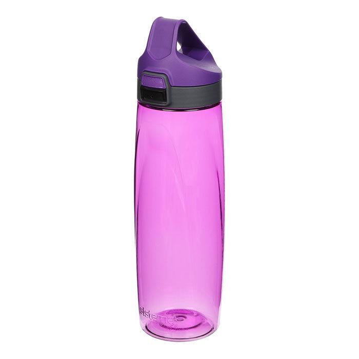 "Бутылка для воды с кнопкой Sistema ""Hydrate"", Тритан, 900 мл, цвет Фиолетовый"