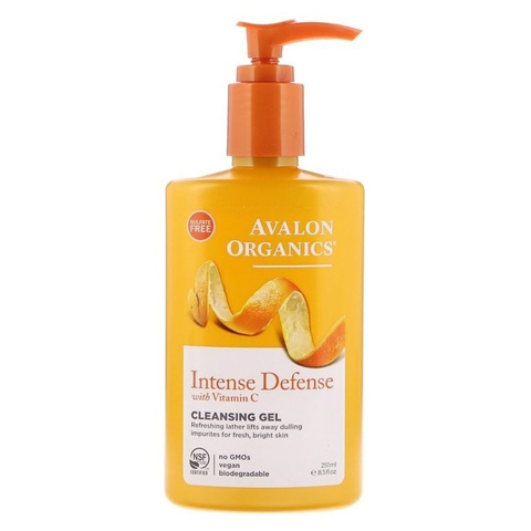 Avalon Organics Vitamin C: Очищающий гель для лица с витамином С (Intense Defense With Vitamin C Cleansing Gel), 251мл