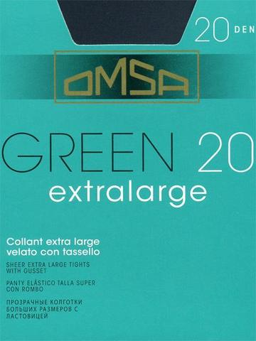Green extralarge XL OMSA колготки