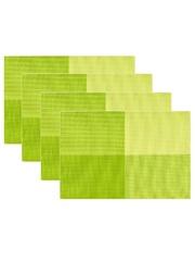Комплект из 4-х прямоугольных кухонных термосалфеток Dutamel плейсмат салфетка сервировочная - салатовые прямоугольники DTM-016 45*30 см