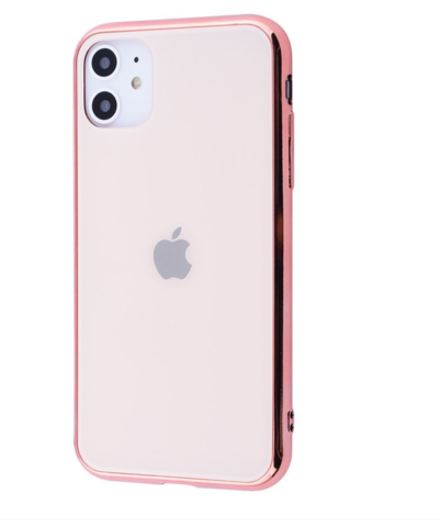 Чехол iPhone 11 Glass Case Logo /rose gold/