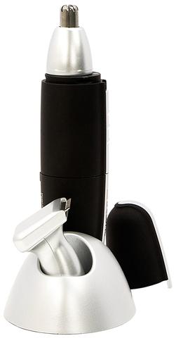Триммер для носа и ушей Dewal, 2 ножевых блока (от 1 батарейки АА), черный