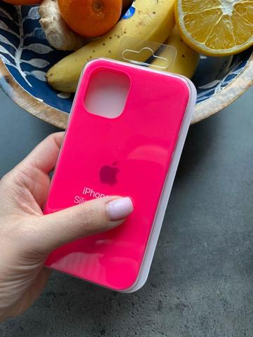 Чехол iPhone 12 (6,7) Silicone Case Full /electric pink/