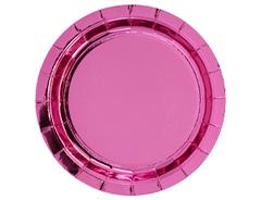 Тарелки фольгированные, Розовый, 23 см, 6 шт, 1 уп.