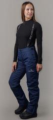 Премиальные теплые зимние брюки Nordski Mount Dark Blue женские с высокой спинкой