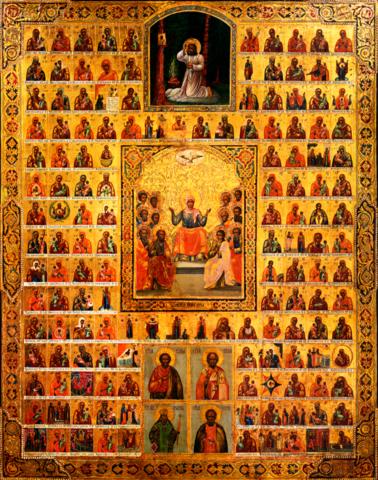 Икона Собор 146 икон Божией Матери на дереве на левкасе мастерская Иконный Дом