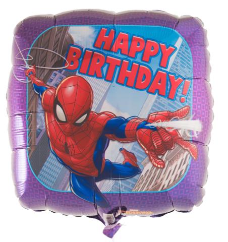 Шар на День Рождения с Человеком-Пауком 46 см