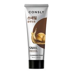 Consly - Кремовая пенка для умывания с муцином улитки, 100мл