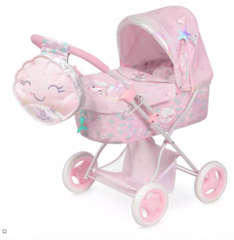 DeCuevas Коляска для куклы с сумкой и зонтиком серии Фантазия океана 60см (складная) (85041)