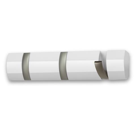 Вешалка настенная горизонтальная Flip 3 крючка белая