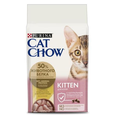 Cat Chow Kitten Сухой корм для котят с домашней птицей