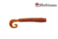 Твистер Mottomo Jim Worm 6,2см Orange Oil Flake 6шт.