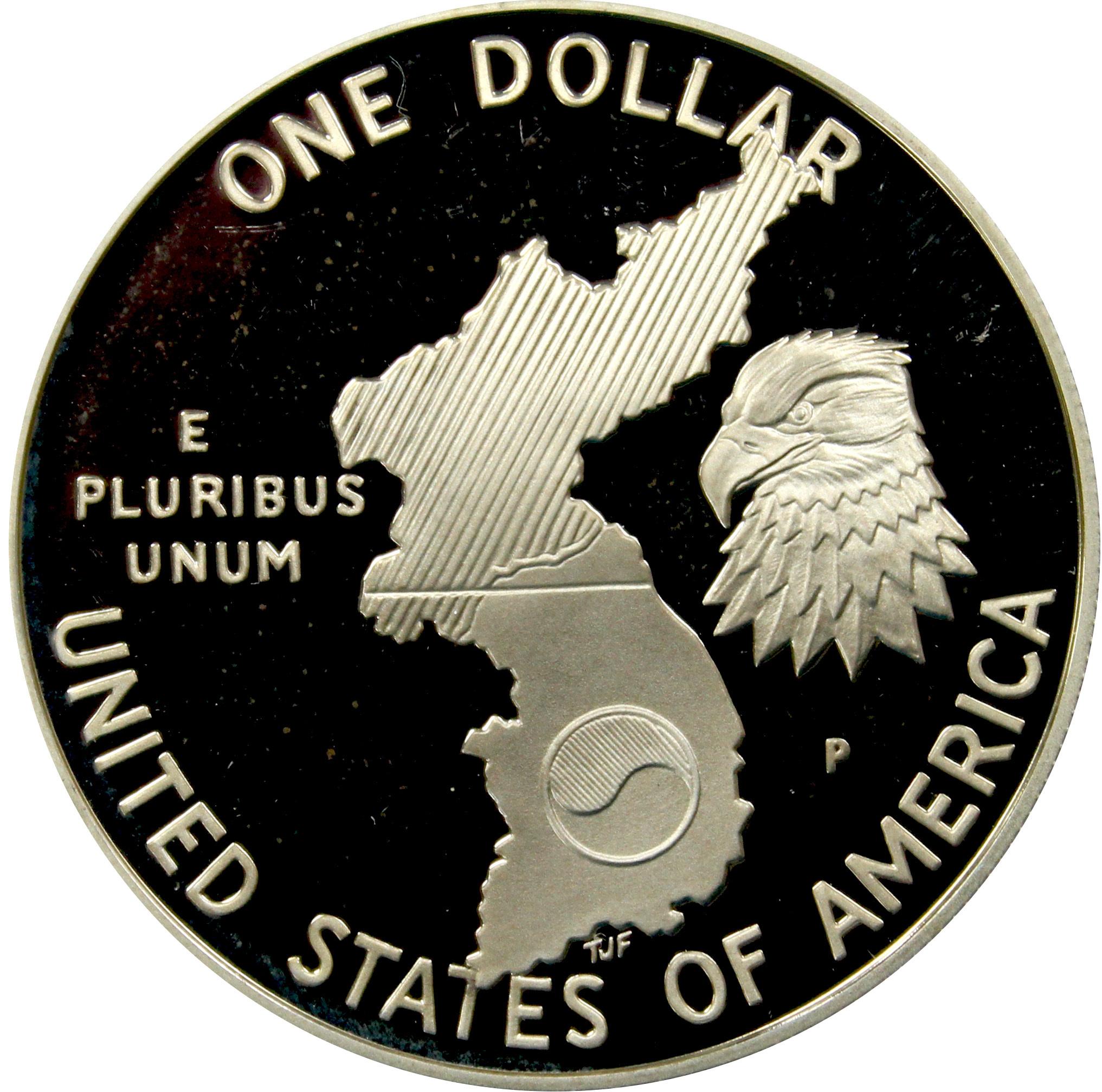 1 доллар 1991 (P) (38-летие окончания войны в Корее) PROOF