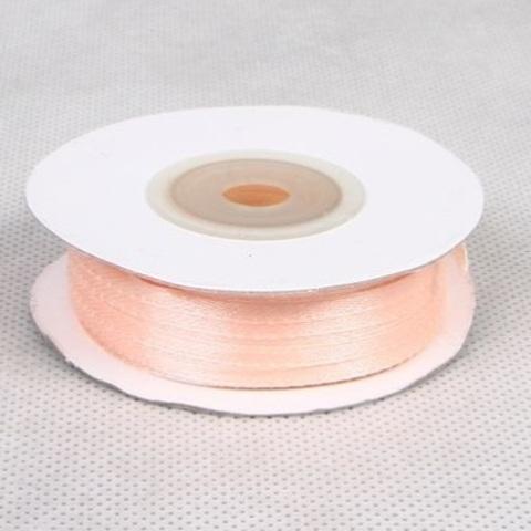 Лента атласная (размер: 3 мм х 50 м) Цвет: персиковая