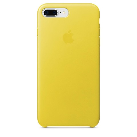 Чехол iPhone 7 Plus Leather Case /spring yellow/