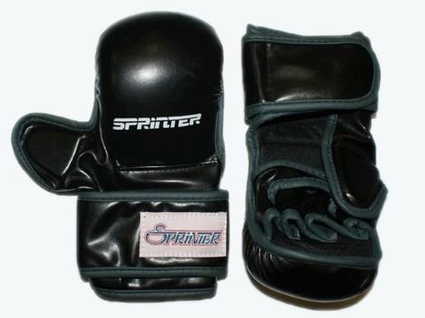 Накладки для рукопашного боя, кожзам, SPRINTER. Цвет чёрный. :(ZTM-014):