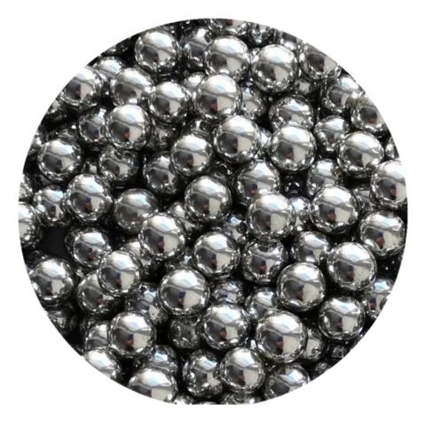 Посыпка шарики серебряные металлизированные 7мм (25г)